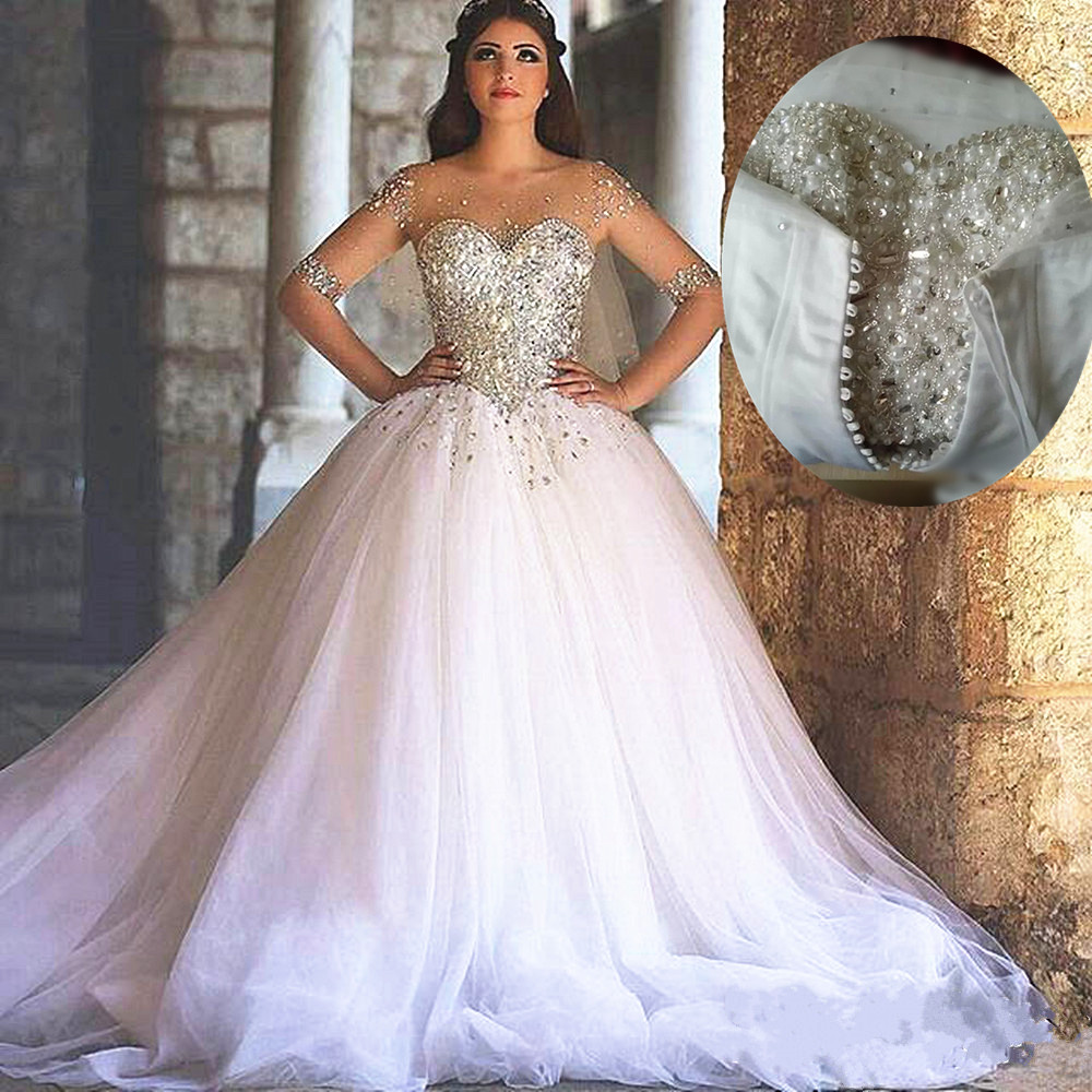 Bling bling wedding dress ball gown wedding dresses for Long white wedding dresses